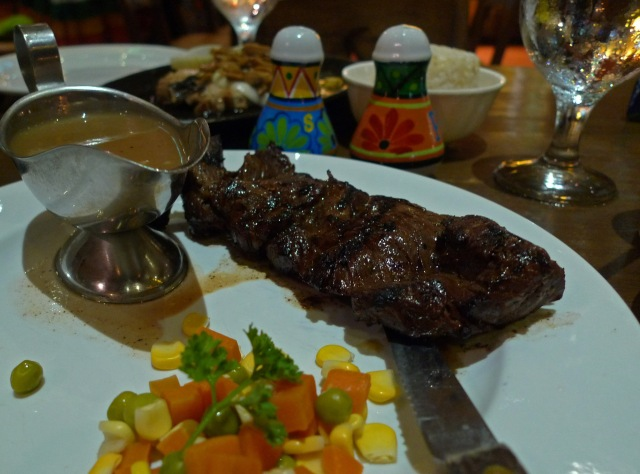 yummy steak at moon cafe, IT park, Cebu