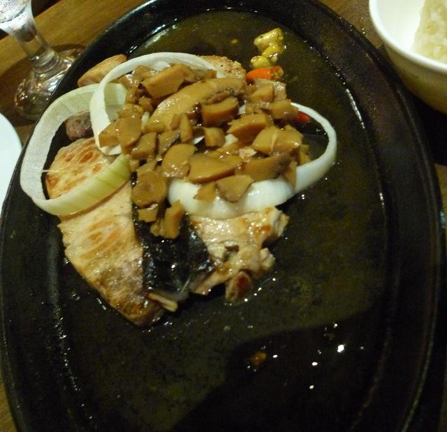 sizzling blue marlin at moon cafe, IT park, Cebu