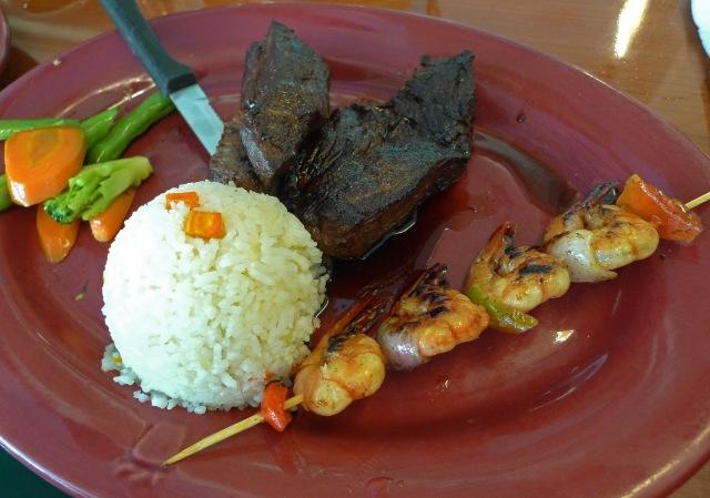 skewered shrimp at casa verde cebu